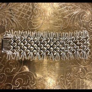 Vintage flying horse Coro bracelet silver tone